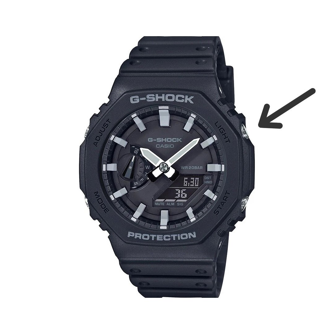 how to change time g shock: light