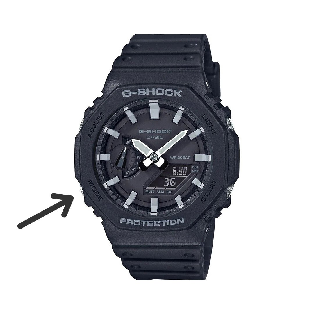 how to change time g shock: mode