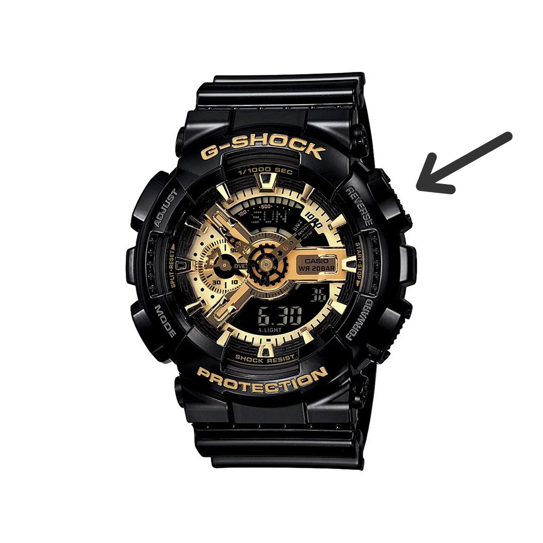 how to change time g-shock: reverse