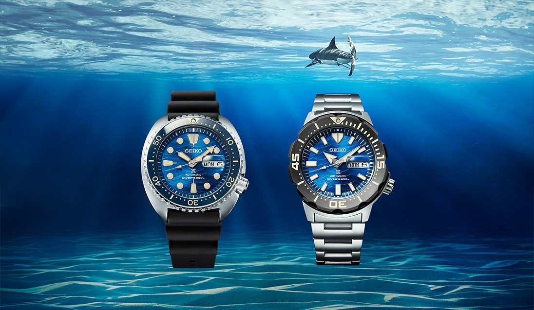 seiko save the ocean great white shark edition