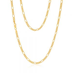 9ct Yellow Gold Silverfilled 50cm Figaro Chain