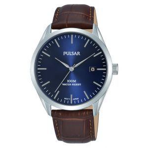 Pulsar PS9579X  Brown Leather Mens Watch