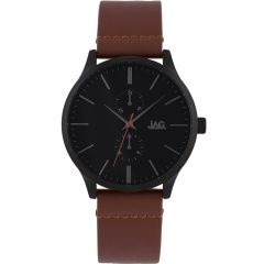 Jag Malcom J2192 Brown Leather Mens Watch