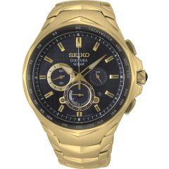 Seiko Coutura SSC754P Gold Stainless Steel Mens Watch