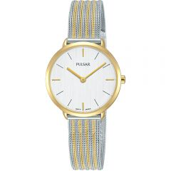 Pulsar PM2280X Two-Tone Stainless Steel Mesh Womens Watch