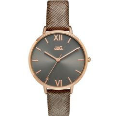 Jag Sophie J2260 Grey Leather Womens Watch