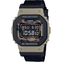 G-Shock DW5610SUS-5DR Set with Interchangeable Black Nylon nad brown Bands