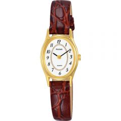 Pulsar PPGD78X Brown Leather Womens Watch