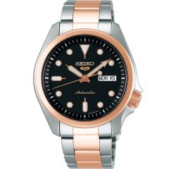 Seiko 5 SRPE58K Automatic Silver/Rose Mens Watch