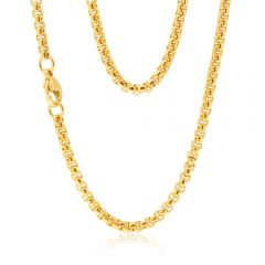 Stainless Steel Gold Plated 55cm Box Chain