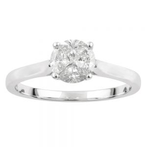 SEAMLESS LOVE  9ct White Gold Ring with 70 Points of Diamonds