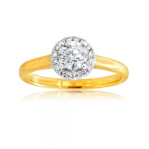 18ct Yellow Gold 0.65 Carat Diamond Solitaire Ring with 0.55 Carat Centre