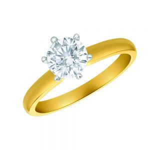 18ct Yellow Gold Solitaire Ring With 1 Carat Diamond