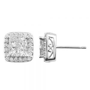 SEAMLESS LOVE 9ct White Gold Stud Earrings with 0.70 Carat of Diamonds