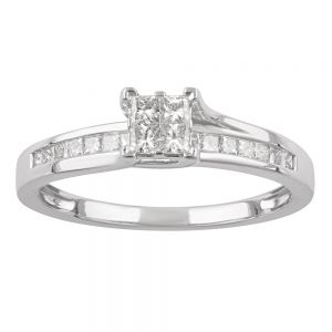 SEAMLESS LOVE 9ct White Gold Dress Ring with 1/2 Carat of Diamonds