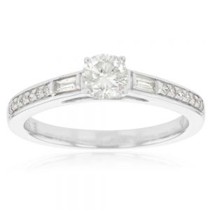 0.60ct Diamond Solitaire Ring in 9ct White Gold