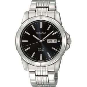 Seiko Solar SNE093P Stainless Steel Mens Watch
