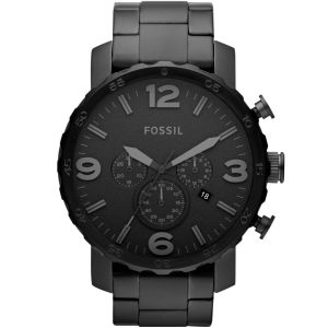 Fossil 'Nate' Chronograph JR1401 Stainless Steel mens Watch