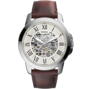 Fossil 'Grant' ME3099 Automatic Brown Leather Gents Watch
