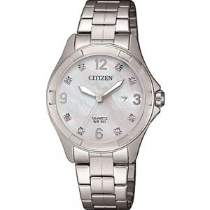 Citizen EU608058D Silver Stainless Steel Womens Watch