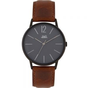Jag Billy J2184 Brown Leather Mens Watch Set