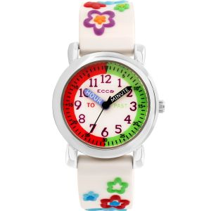 ECC Flowers Pink Strap Kids Watch