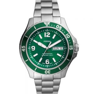 Fossil FS5690 FB-02 Day & Date Stainless Steel Mens Watch