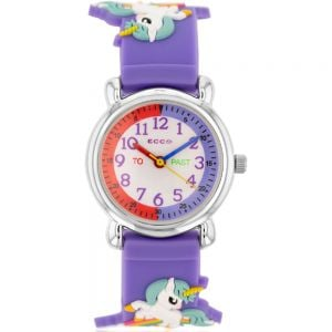 ECC Kids Purple Unicorn Watch