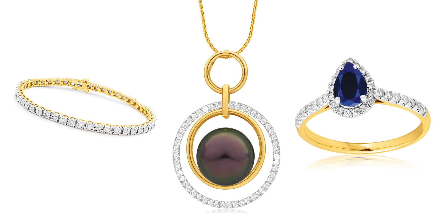 yellow gold and diamond jewellery